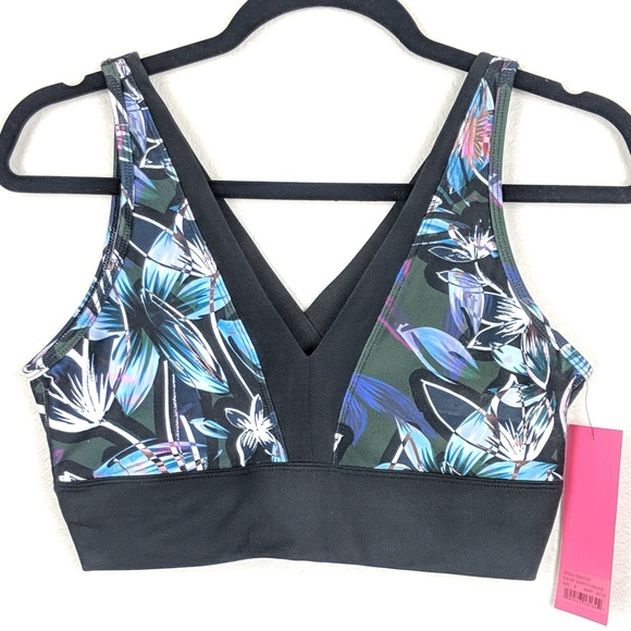 19e70493b Betsey Johnson Graffiti Orchid Sports Bra